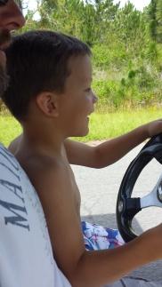dean driving golf cart 2