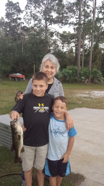 fishing with grandmom