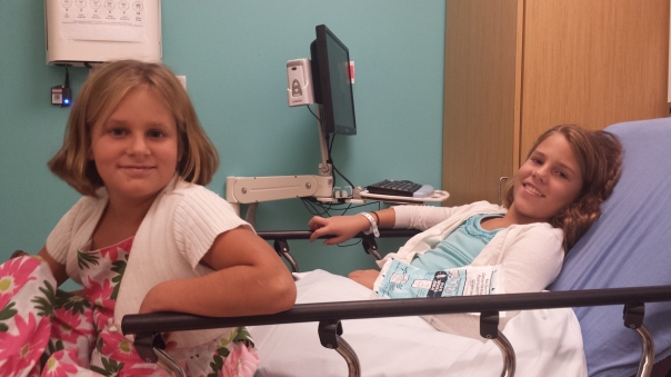 trip to hospital for halia's sprained arm