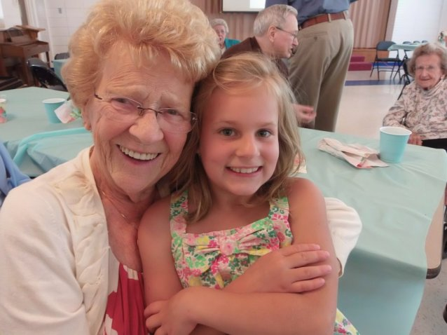 marissa with aunt ruth, grandot's party