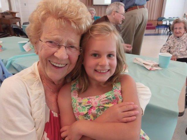 marissa with aunt ruth, grandot's party